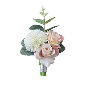 Cupcinu Wedding Boutonniere Artificial Wedding Flowers Hand-Made Artificial Flower Brooch 10cm10cm Cloth 106
