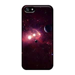 Hot Fashion FOx19103dKkE Design Cases Covers For Iphone 5/5s Protective Cases (red Space)