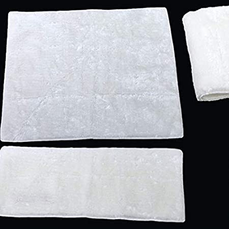 12x100cm Blanco Alfombra de Filtro de Acuario Reutilizable de Alta eficiencia Manta de pre-Fibra Manta de filtraci/ón Alfombra Manta de Filtro m/ágico