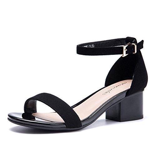 EU36 De Zapatos Slotted con O'Connor Tacones Sandalias Y Correa con Female Cómodos Gruesas Altos Sandalias SHOESHAOGE Mujer Eu36 gA5TwqEwx