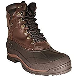 Zanco Men's Extra Wide Width Waterproof Brown Leather Boots Style # 3703