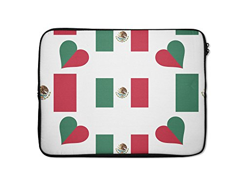 Style in Print Mexico Country Flag Heart Laptop Ipad Slee...