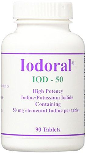 Iodoral Iod-50 High Potency Iodine/potassium Iodide Tablets, 90 Count (90 Tabs Potassium)