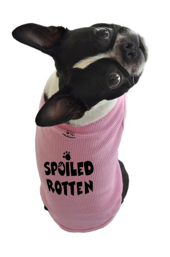 What Doggie Tee (Doggie Tank Top, Spoiled Rotten, Pink, Extra-Large)