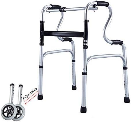 90GJ Walker Walker, älterer Walker Wheel Walker für Behinderte, Korbstuhl, alte Armlehnen, Vier Beine, alte Stufen...