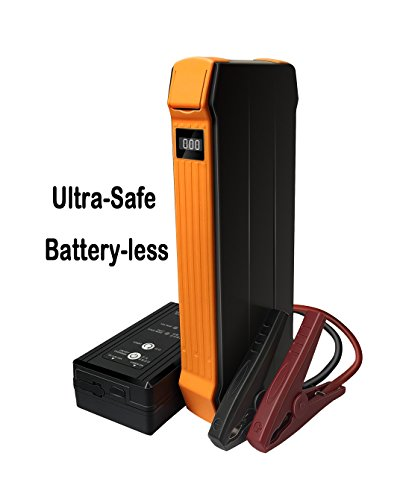 autowit 12V Battery-less Portable Car Jump Starter (Up to 5.0L Gas/3.0L Diesel Engine), 700A Peak/600A Instant, Ultra-Safe Booster Pack, Auto Emergency Start Power, Super Capacity Technology, - Capacitor Super