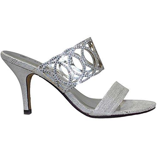 Fantasia SCHUHE donna col Silber tacco Boutique Scarpe qSRxqPa