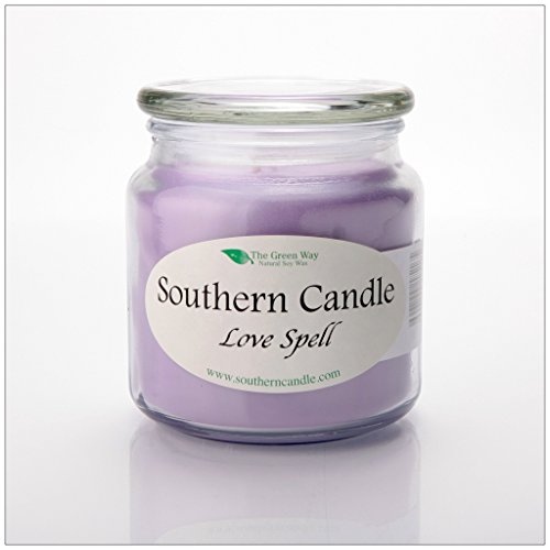 Love Spell 16 oz Decorator Jar Natural Soy Wax Candle