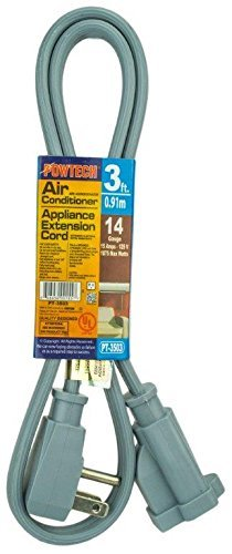 PowTech 3 Foot Air Conditioner and Appliance Extension Cord UL Listed