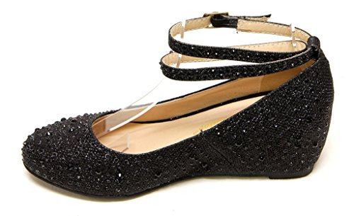 36 Low Wedge Toe Black Med Chase amp; Chloe Womens Heel BOBBY12 Pump Round qwtpx