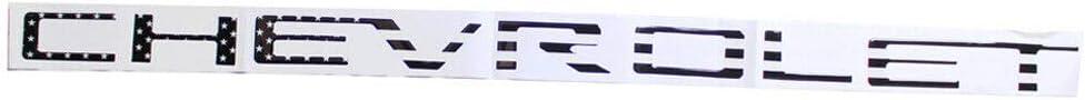 White Tonet CV-01W Custom 3D Raised ABS Nameplate Chevy Letters Badge Tailgate Emblem Decal Insert For Chevrolet 2019 2020 Silverado 1500 2500 3500