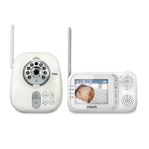VTech VM321 Video Baby Monitor with Automatic Infrared Night Vision, Adjustable Camera, Zoom, 5 Soothing Lullabies & 1,000 Feet of Range (Vtech Audio Baby Monitor With 2 Parent Units)