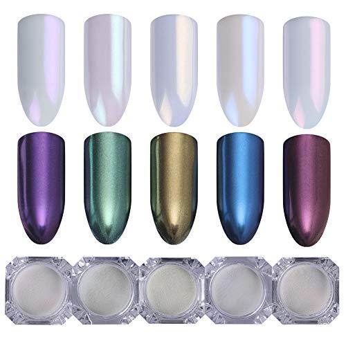 BORN PRETTY Chrome Powder Nail Art Chrome Pigment Powder (5 Colors)
