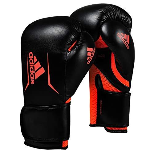 adidas FLX 3.0 Speed 100.2 Training Gloves, Black/Solar Red, 16 oz