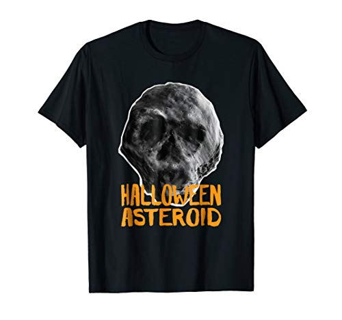 Halloween Asteroid T-Shirt - Death Comet Skull Face ()