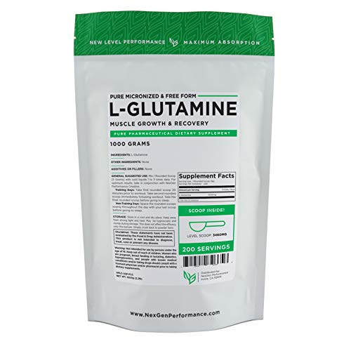 L-Glutamine Powder – Free Form – Fast Recovery – Muscle Growth (1000g)