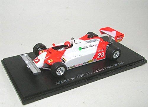 1/43 アルファロメオ 179C No.23 3rd Las Vegas GP 1981 Bruno Giacomelli(ホワイト×レッド) S3874
