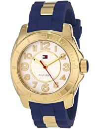 Women's 1781307 Casual Sport Gold-Plated Case and Links with Silicone Strap Watch