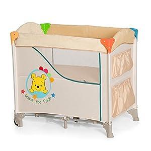 Hauck Sleep N Care, Lit Cododo 5 Pièces, 80 x 44 cm, Lit Parapluie avec Matelas, Roues, Poches, Sac de Transport, Pliable, Disney Pooh Ready to Play (Beige) 2