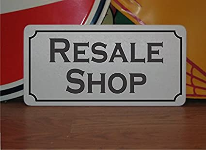 Resale Shop Vintage Style Metal Sign Decor