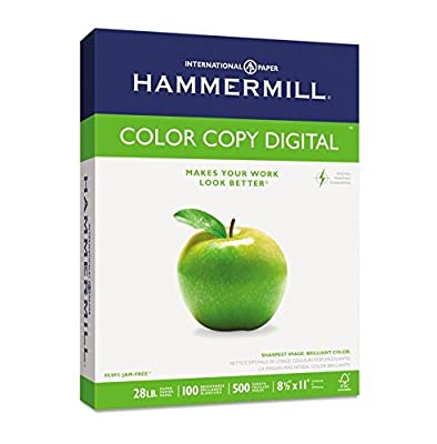 Copy Paper, 100 Brightness, 28lb, 8 1/2 x 11, Photo White, 500/Ream, Sold as 1 Ream, 500 per Ream