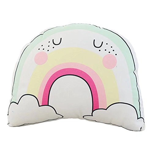 Finebaby Creative Cotton Unicorn Rainbow Throw Pillow Baby Cuddle Bedtime Comfort Toys Breathable Cosy Dolls -