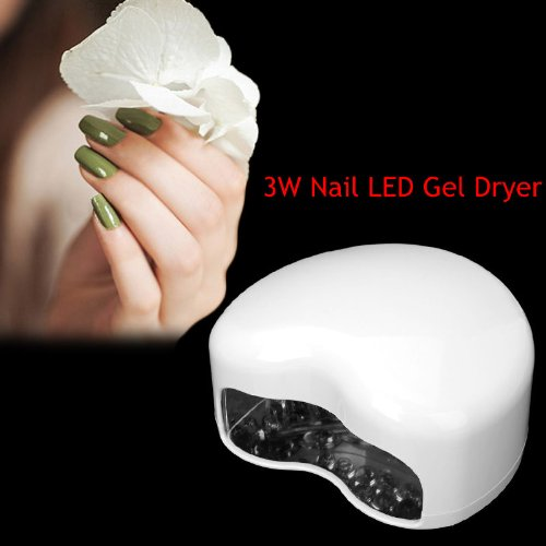 CHSGJY New Mini 3W Nail Curing Auto LED Lamp Nail Art Dryer Light Curing Timer White US