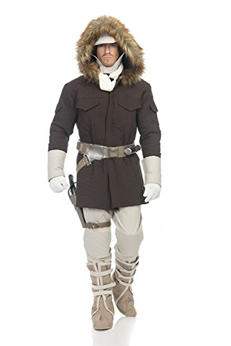 La Parka Costume (Star Wars Hoth Han Solo Adult Costume, Medium, Brown)