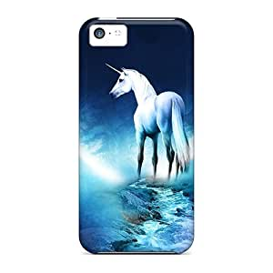 Anti-scratch Case Cover Charming YaYa Protective Unicorn And Moon Case For Iphone 5c