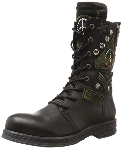Replay Damen Bottes De Motard Cletic Schwarz (noir)