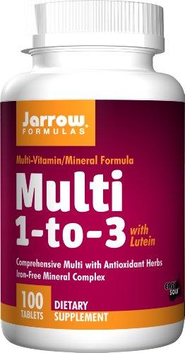 Jarrow Formulas Multi-vitamin 1-to-3, Complete Multivitamin/Mineral Supplement, 100 Easy-Solv Tabs