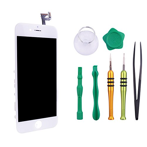 Screen Replacement Compatible iPhone 6S White(4.7inch)Digitizer Repair LCD replacement Kit assembly by Milemont (Image #2)