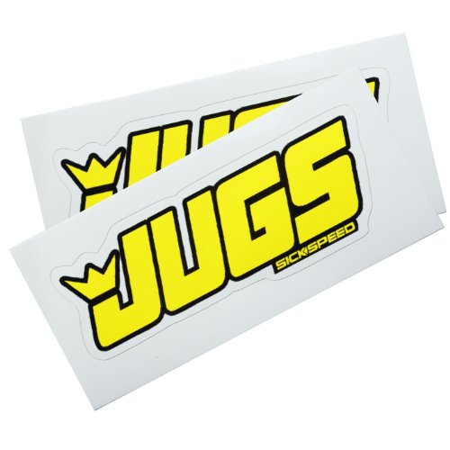 2Pc Jugs Jegs Breast Boob Vinyl Sticker Decal Stickerbomb Bomb Funny Spoof Lot for Cadillac CTS ()