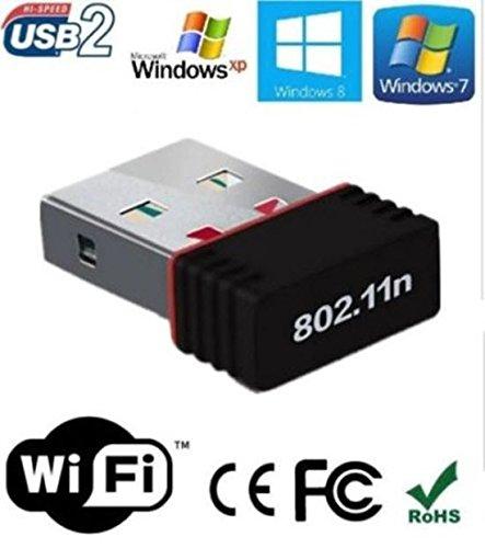 OO LaLa Ji 600 Mbps 2.4GHz, 802.11b/g/n USB 2.0 Mini Wi Fi Receiver High Speed Wireless USB Adapters