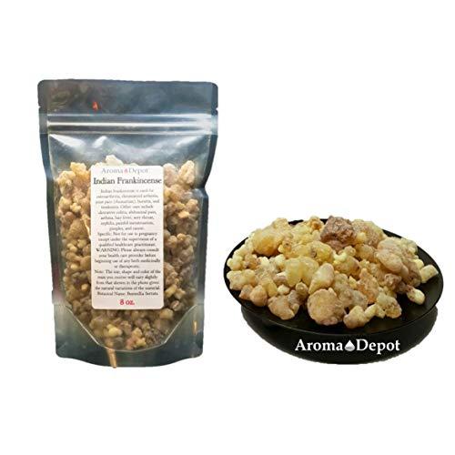 Indian Frankincense Resin Organic Aromatic Tear Rock Incense Olibanum Gum Bulk (8 Ounce)