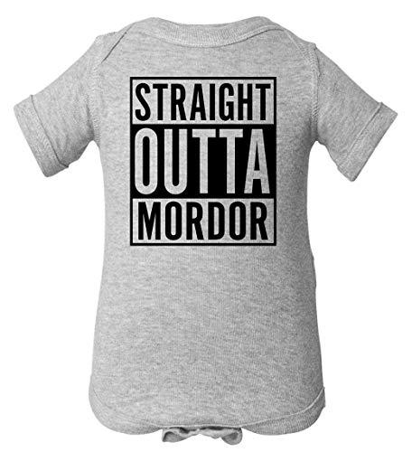 Tenacitee Infant's Straight Outta Mordor Bodysuit, 6 Months, Heather Grey