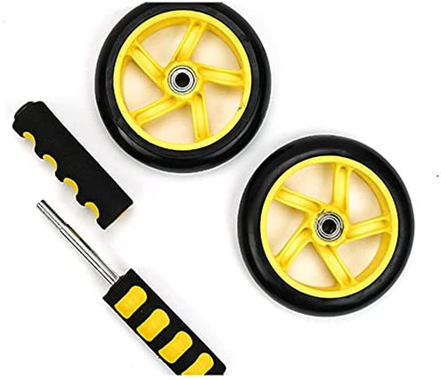 Core & Abdominal Trainers Abdominal Wheel Yellow Abdominal Wheel Huge Fitness Roller Mute AB Weight Loss Fitness Equipment For Home Gym Abdominal Trainer Ideal for beginners and experienced people wei 2