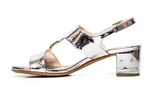 Elegante sandalia Albano 4336 espejo de plata
