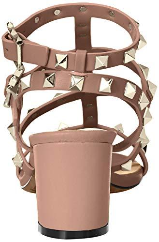 Kaitlyn Pan Studded Block Heel Open Toe Sandal