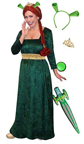 Sanctuarie Designs Women's Princess Fiona Shrek/Plus Size Costume/Dress & Deluxe Kit/0x/ -