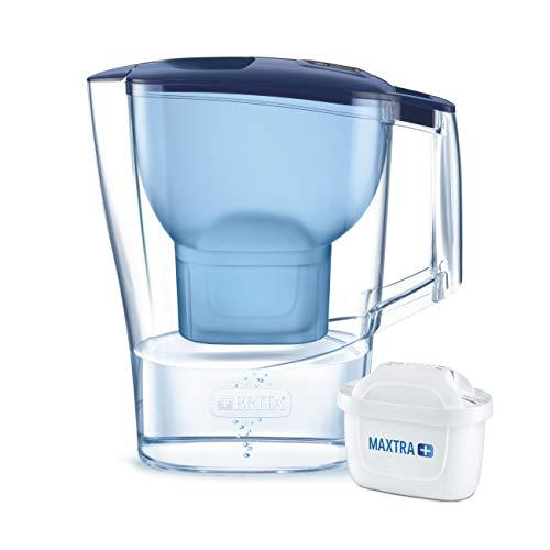 BRITA Aluna – Jarra de Agua Filtrada con 1 cartucho MAXTRA+ – Filtro de agua BRITA de color azul que reduce la cal y el cloro – Agua filtrada para un sabor excelente