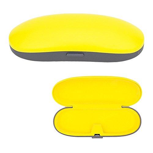 35mm Case - Kids Eyeglass Case, Childrens Bright Noen Color Protective Hard Sunglasses & Glasses Holder -Yellow- By OptiPlix
