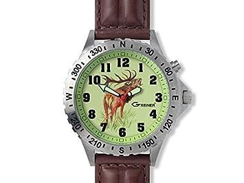 Greiner 1209-TF Armbanduhr Motiv Hirsch