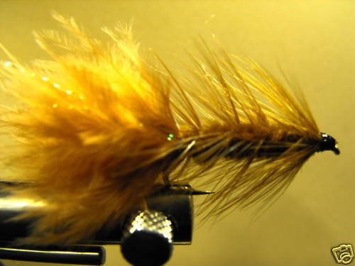1 Dzn - Woolly Bugger - Trout or Pan fish - Brown, Fly Fishing Flies, Fly Fishing Lures Strong Fishing Hook (Pike Streamer)
