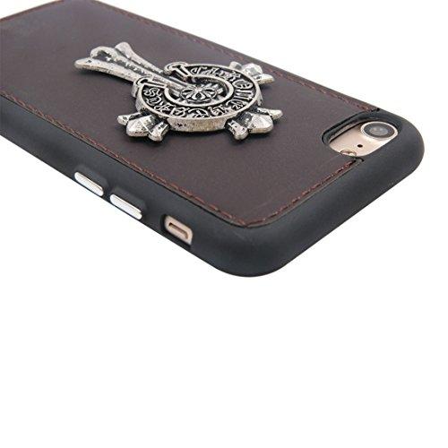 MXNET Caso de Iphone 7, caja sensible al calor del teléfono TPU + caja protectora material del metal del caso trasero ,Funda para iphone 7 ( SKU : Ip7g5847b ) Ip7g5847d