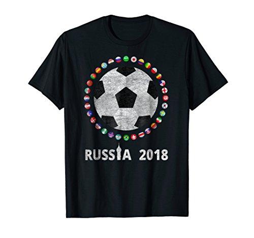 最好的价钱 Russia Soccer 2018 World Football Cup All Teams -shirt