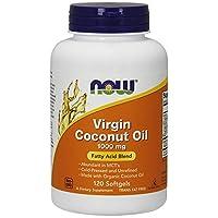 AHORA Aceite de coco virgen 1000 mg, 120 cápsulas blandas