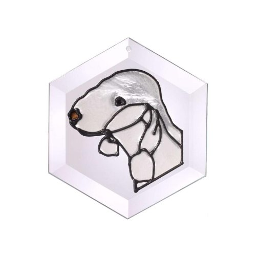 (Bedlington Terrier Painted/Stained Glass Suncatcher (Ew-286))