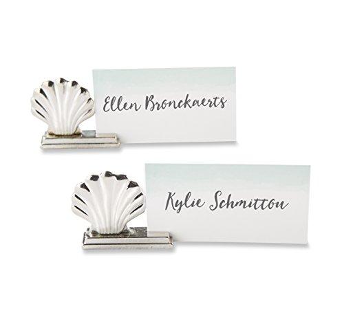 Kate Aspen Silver Seashell Place Card Holder (Set of 6)