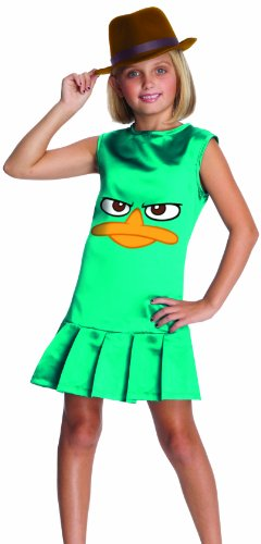 Phineas Ferb Costumes Halloween (Phineas and Ferb Sassy Agent P. Girls Costume - Large)